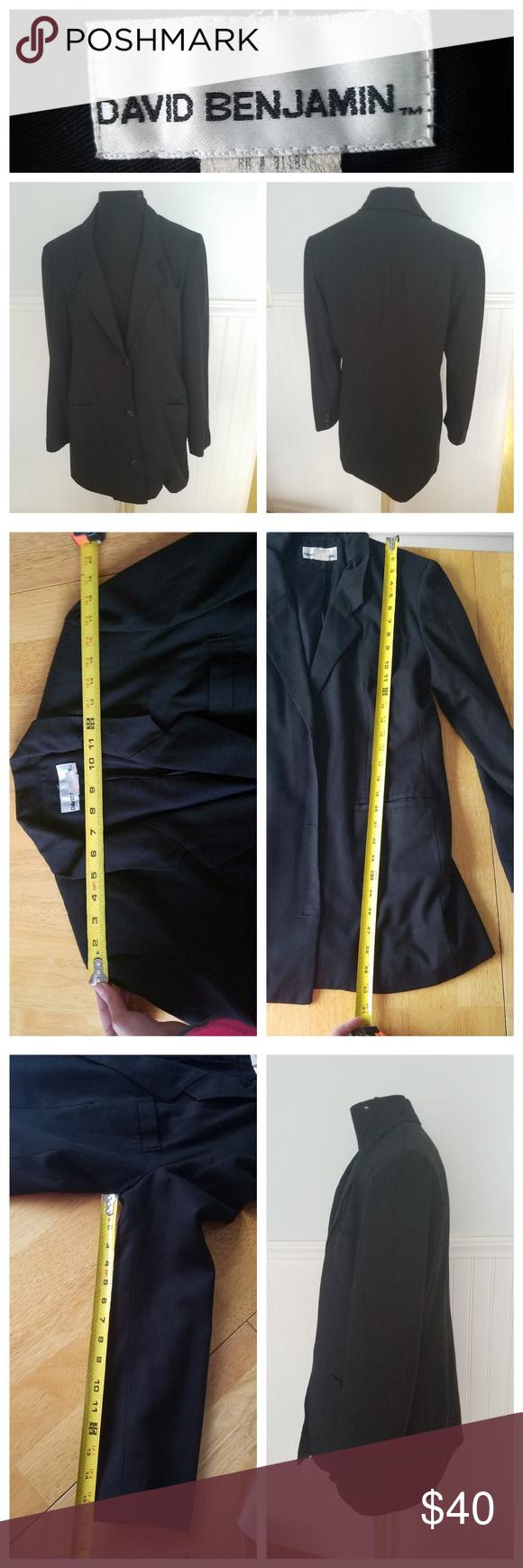 4e5ca3257859 David Benjamin Black Blazer - Sz. 10 This is a David Benjamin brand black  blazer