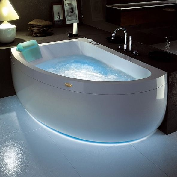 Jacuzzi Aquasoul Offset Corner Whirlpool Right Hand Bath