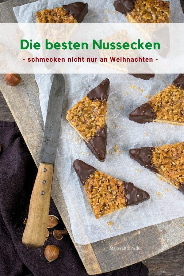 Saftige Nussecken mit Schokolade #nusseckenrezept