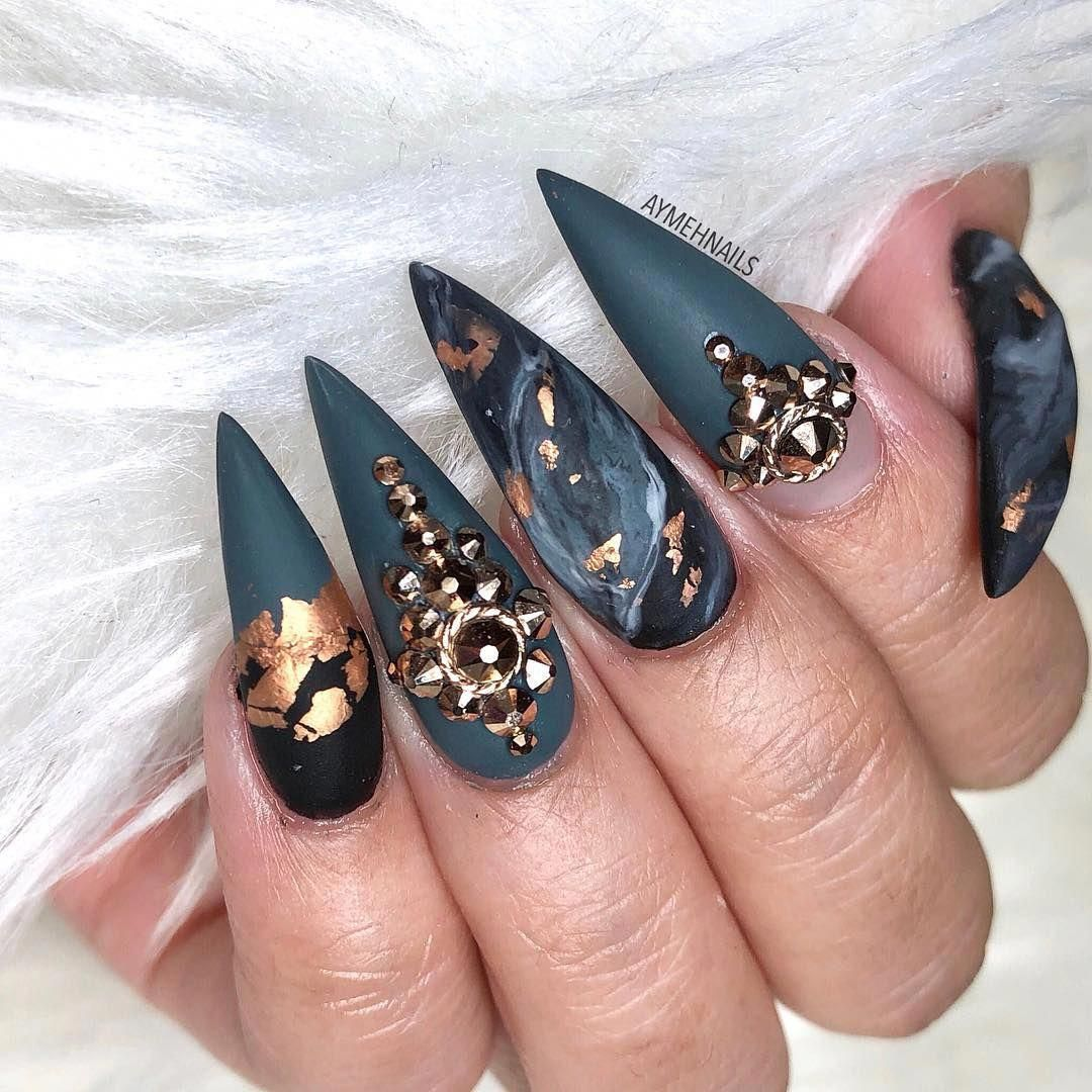 Acrylicnails With Images Stiletto Nail Art Solid Color Nails