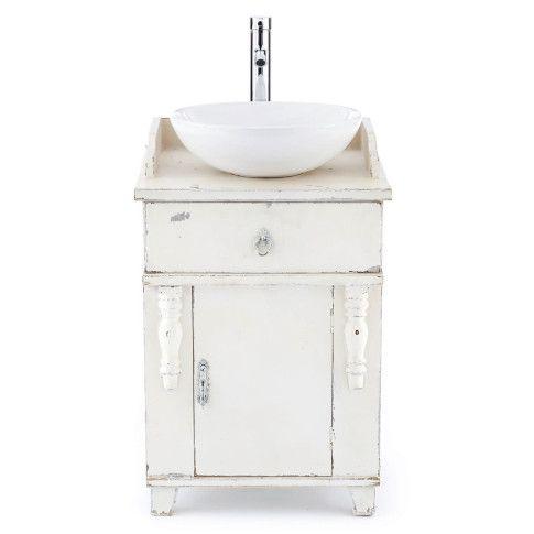 Waschtisch, rundes Waschbecken, Vintage, Tanne/MDF/Keramik ... | {Waschtisch vintage 32}