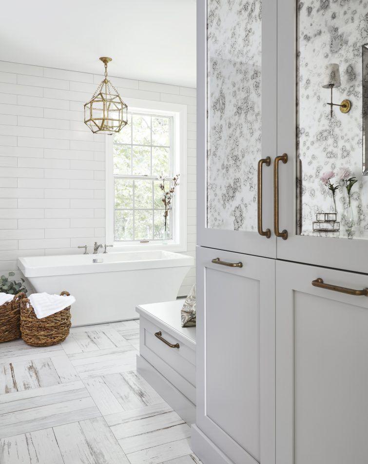 Bathroom floor - farmhouse style barnwood tile | Bathroom ... on Farmhouse Tile Bathroom Floor  id=38088