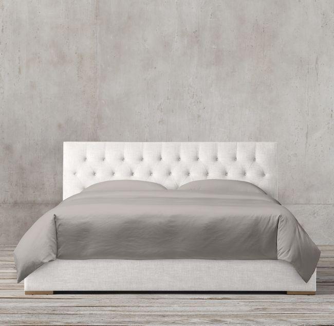 adler panel diamond tufted fabric platform bed vintage velvet rh pinterest co uk