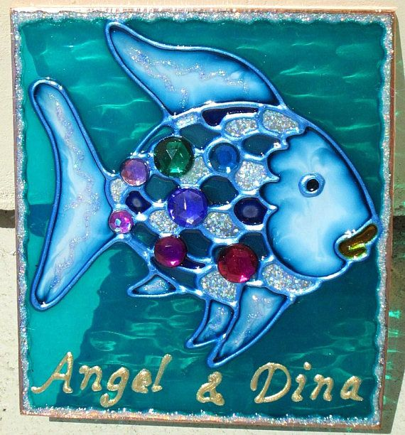 Stained Gl Under The Sea Rainbow Fish Night Light Plug In