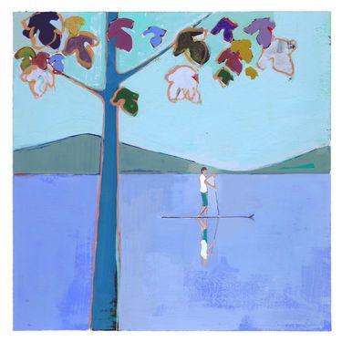 """Saatchi Art Artist Charlotte Evans; Painting, """"Untitled (paddle)"""" #art"""