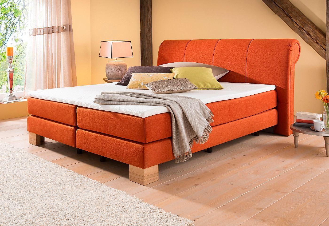 home affaire boxspringbett toma mit topper und kederumrandung in drei breiten und 2. Black Bedroom Furniture Sets. Home Design Ideas