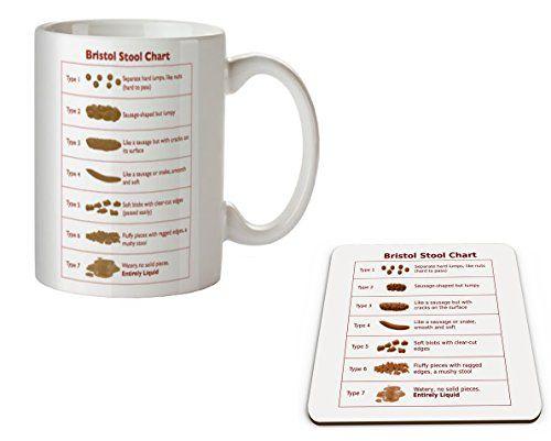 Bristol Stool Chart Tasse und Untersetzer Set-Ideal Geschenk für Ärzte und Krankenschwestern - http://geschirrkaufen.online/top-marques-collectibles/bristol-stool-chart-tasse-und-untersetzer-set-und