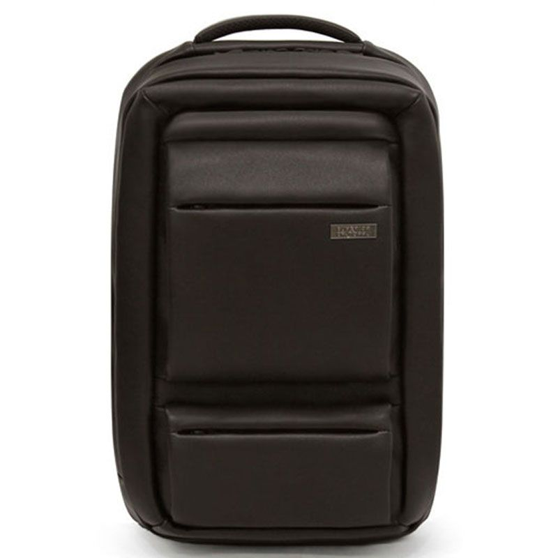 Mens Leather Backpack Business College Laptop Bag TOPPU 638A (6)