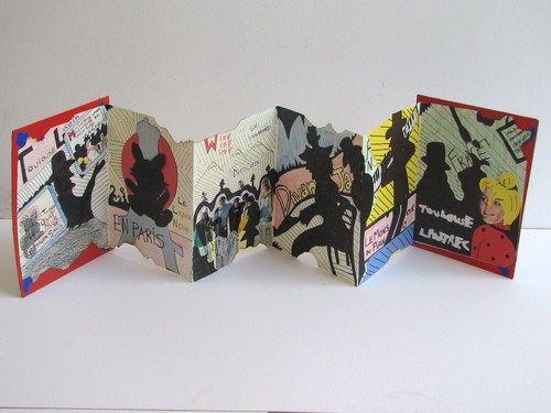Artist Accordian Books: great art history tie-in!