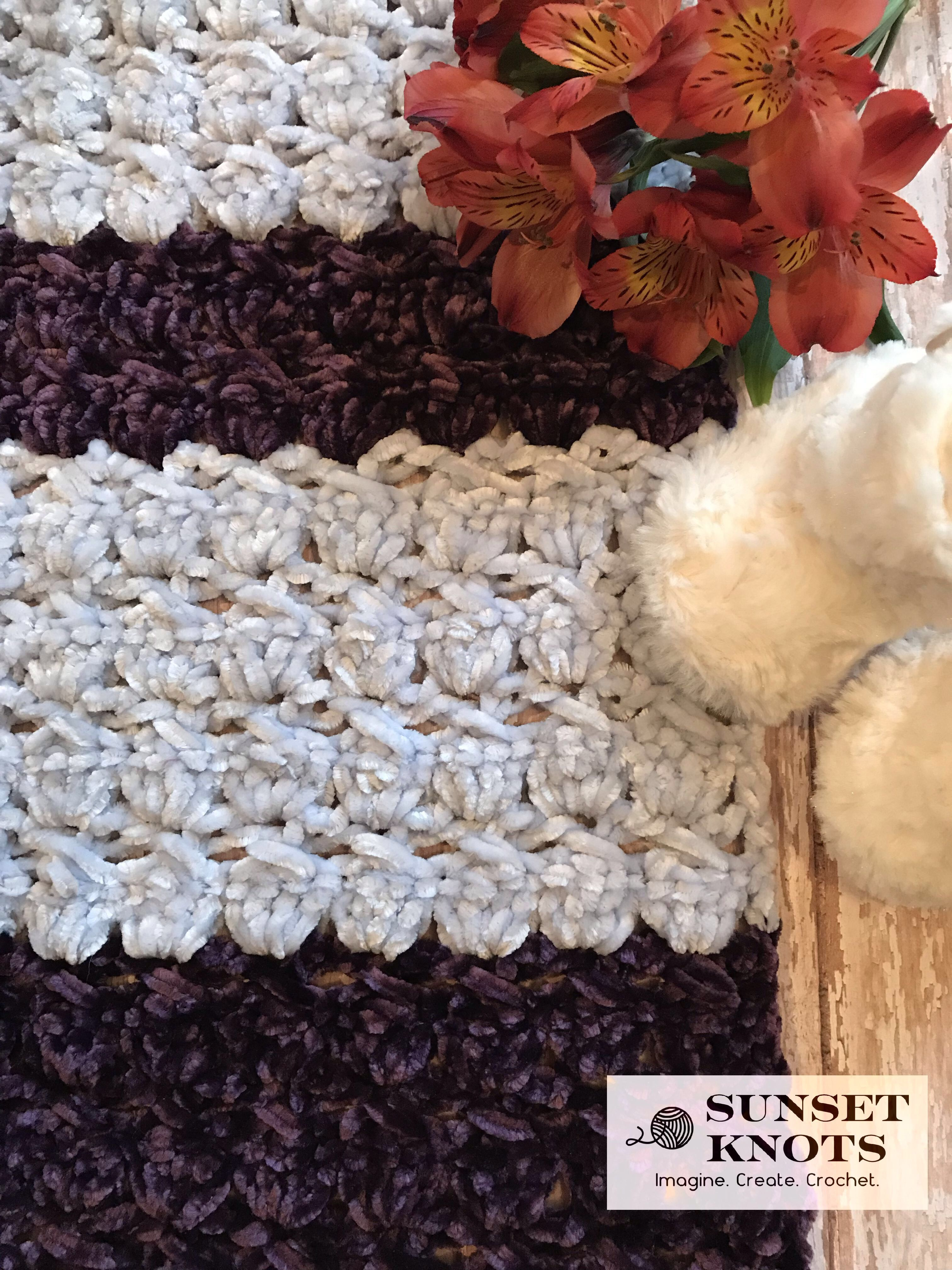 Free Crochet Pattern For A Baby Blanket Using The New Bernat Velvet