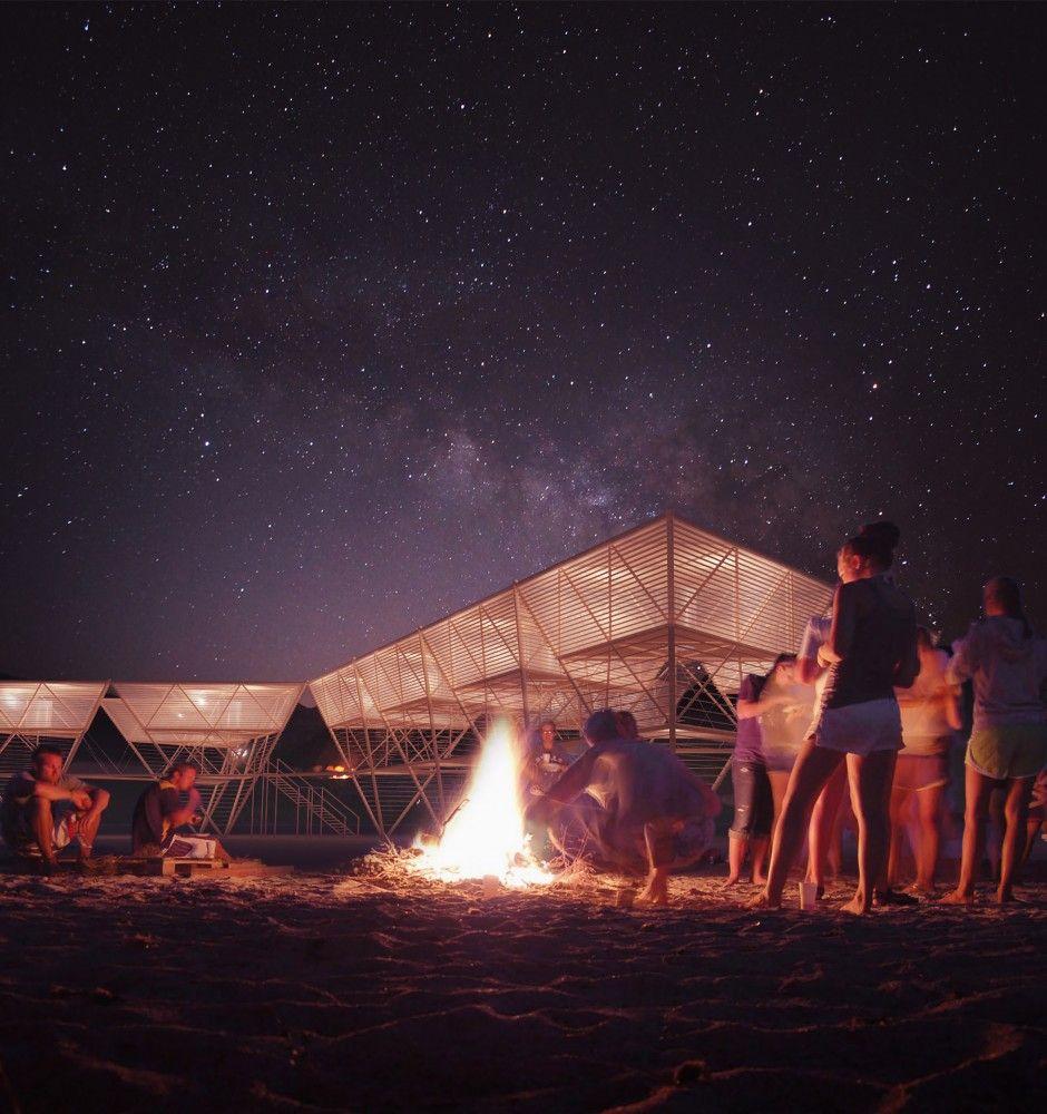 Barberio+Colella+ARC's+Lanterns+Sea+Village+Proposes+Non-Invasive+Ocean+Dwellings+for+Surfers