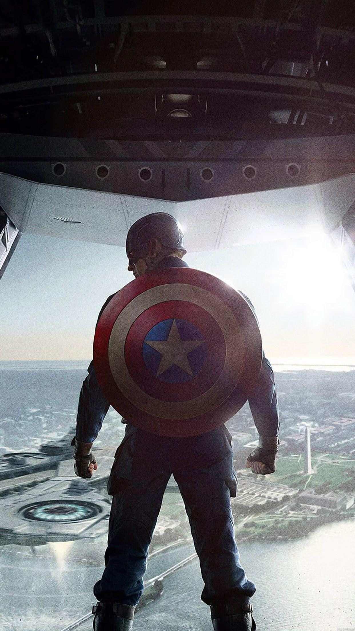 For Geeks Captain America With Shield Colorful Dark Strong Superhero Marvel Avenger Comics Washington HD IPhone 6 Plus Wallpaper