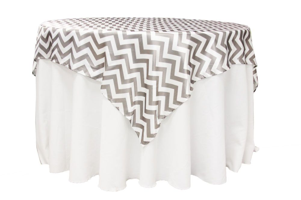 chevron 72 u0026quot  square satin table overlay