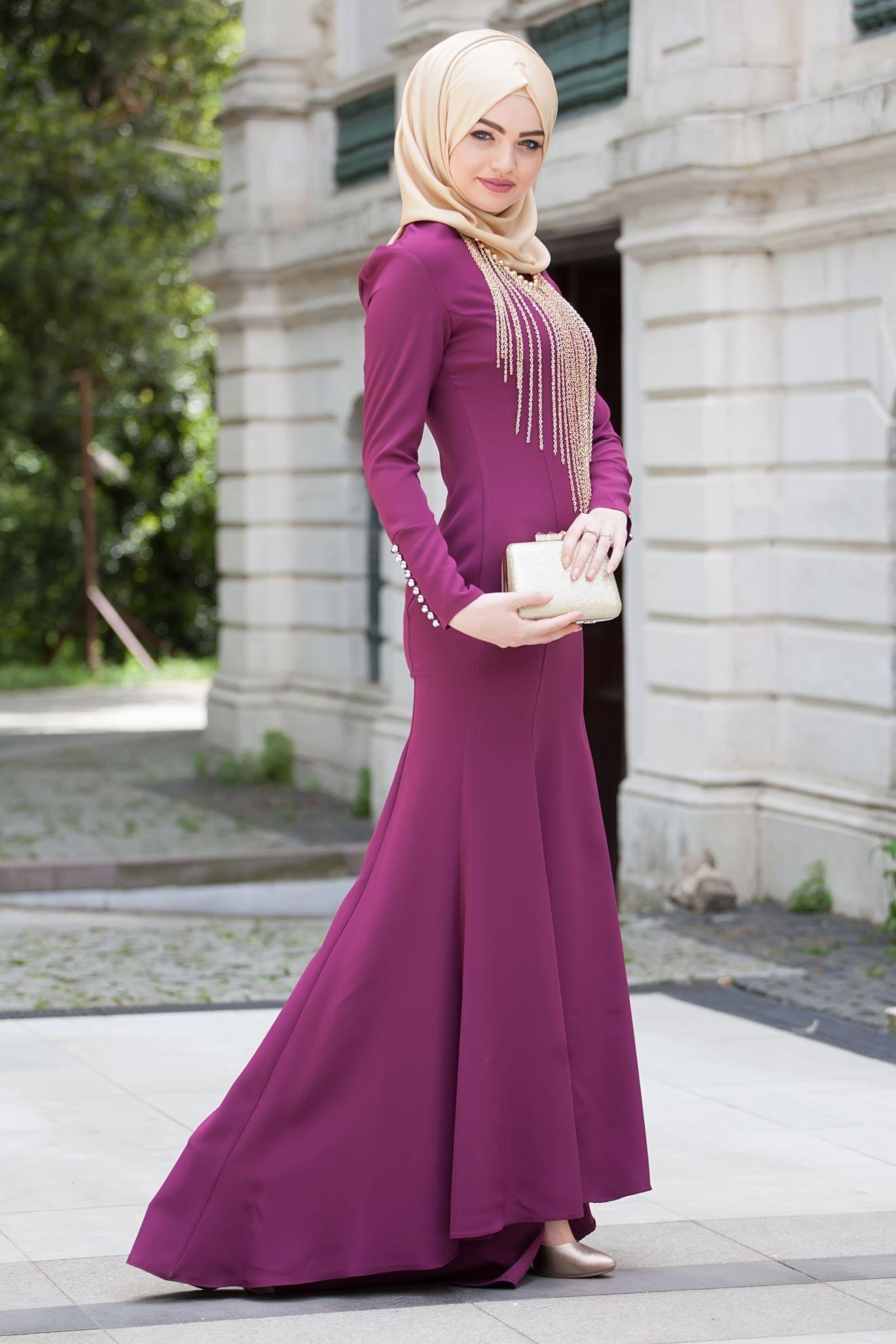 b3d2132b7c932 Şık Tesettür Balık Abiye Elbise Modelleri | Tesettür | Elbise ...