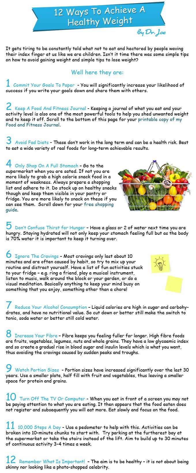 #includes #achieve #healthy #fitness #journal #weight #which #ways #free #food #to #a #a12 Ways To A...