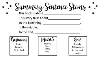 These sentence stems are great for helping students