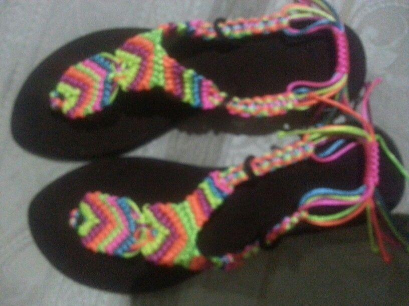 Handmade sandals Sandalias tejidas