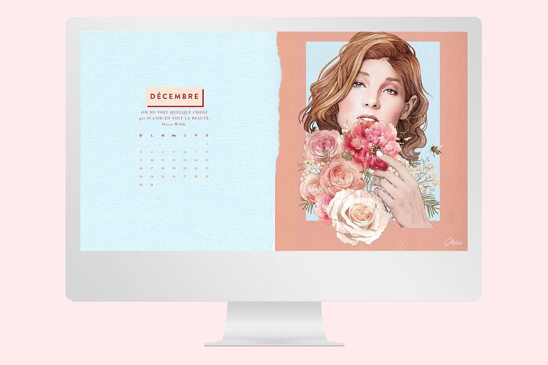 Fond d'écran gratuit de décembre - Bouquet - Cliquez pour découvrir l'article #decembrefondecran