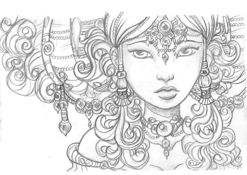 Dessin visage femme africaine recherche google sketch - Africaine dessin ...