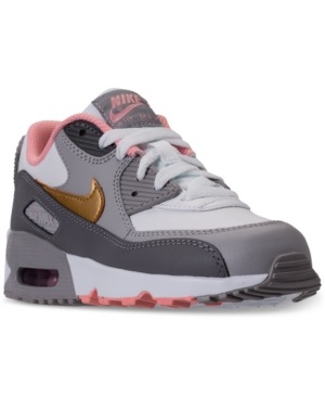 468d0660f671 Nike Little Girls  Air Max 90 Leather Running Sneakers from Finish Line -  Black 12
