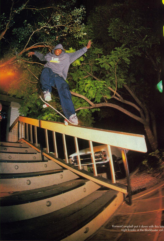 Kareem Campbell Vintage Skate Stuff Skateboard Pictures Skate