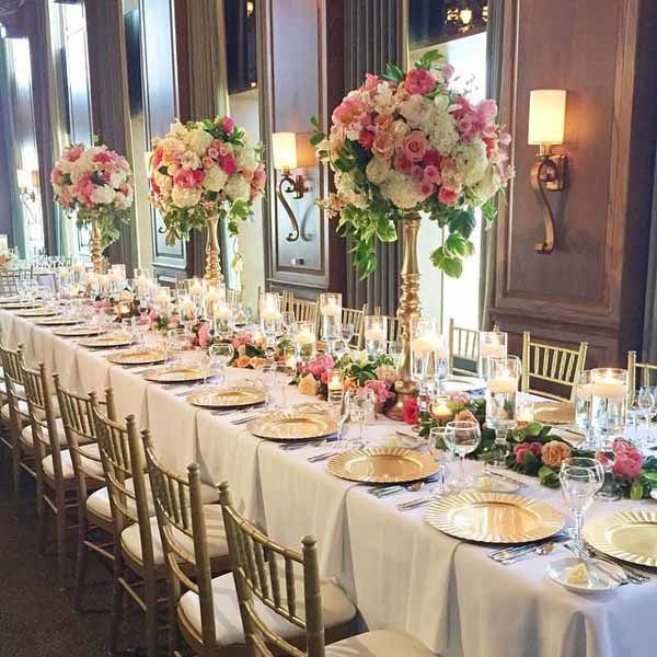 Posh Floral Designs - Long table design for a wedding reception ...