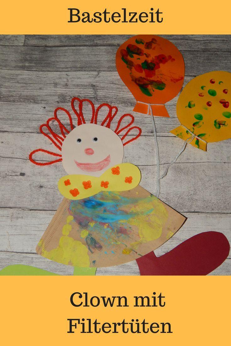 Basteln: Bunte Clowns fürs Kinderzimmer