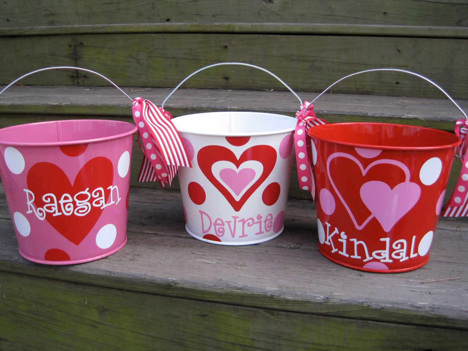 Personalized Valentine Bucket Assorted Colors 5 Qt 22 00