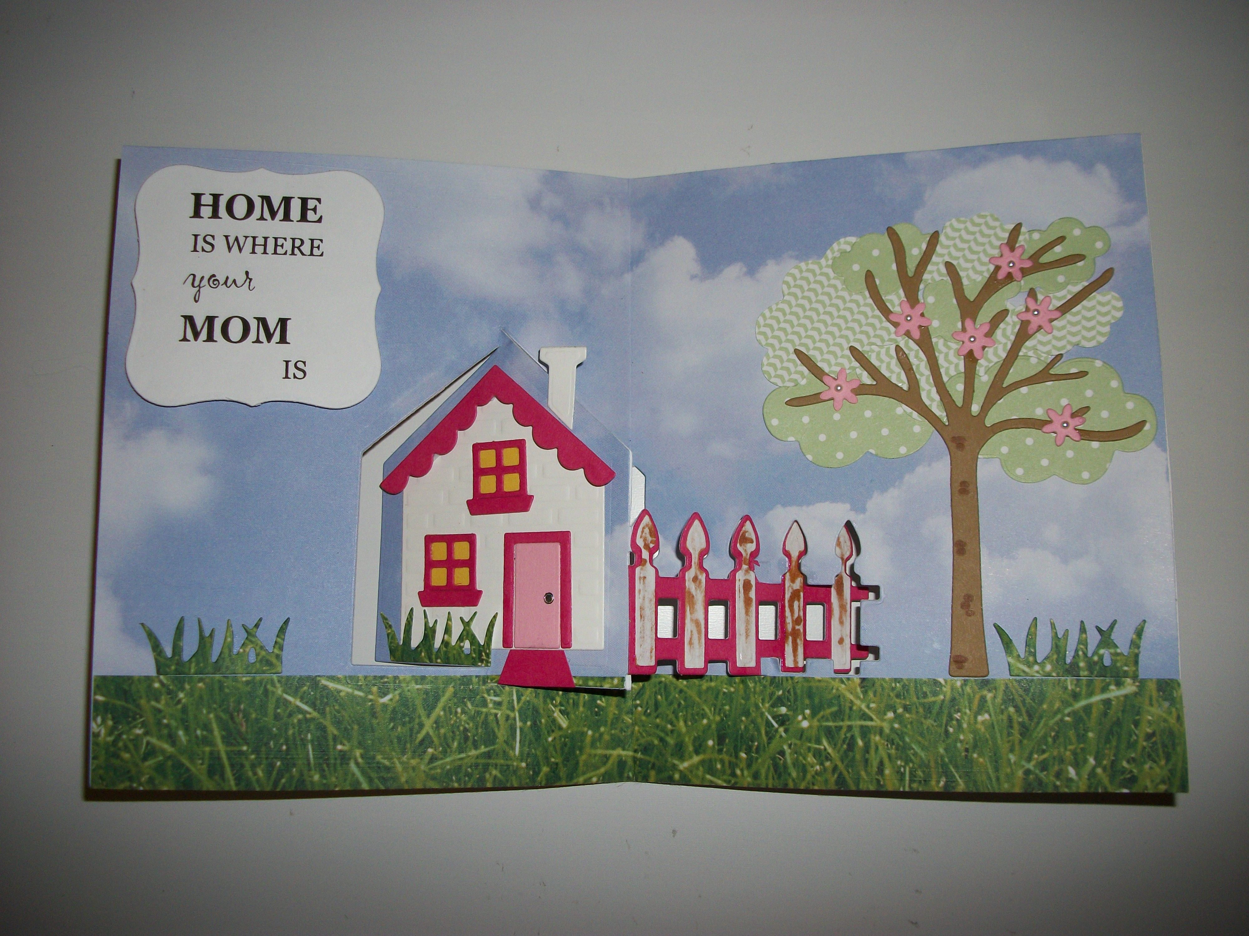 House pivot card die by karen burniston i made this for my mom for