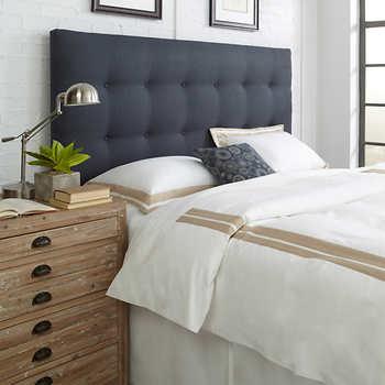 Pin By Megan Elliott On Furniture Upholstered Headboard Bed Headboard Design Upholstered Headboard King