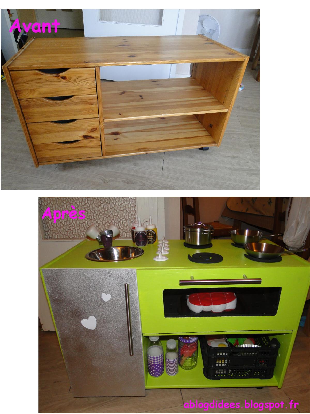 mini cuisine play kitchen diy cuisines enfants pinterest cuisines enfant salles de jeux. Black Bedroom Furniture Sets. Home Design Ideas