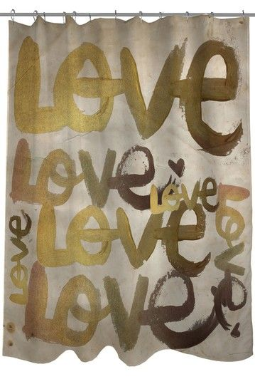 Oliver Gal By One Bella Casa Four Letter Word Shower Curtain Lightning E Commerce On Hautelook