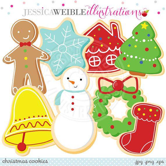Christmas Cookies Cute Digital Clipart Commercial Use Ok Christmas Cookie Clipart Cookie Clip Art Christmas Clipart Christmas Cookies Christmas Tree Clipart Clip Art