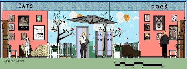 Interior Design Project At NAIT Edmonton Alberta 1 Elevation Graphics Sketchup