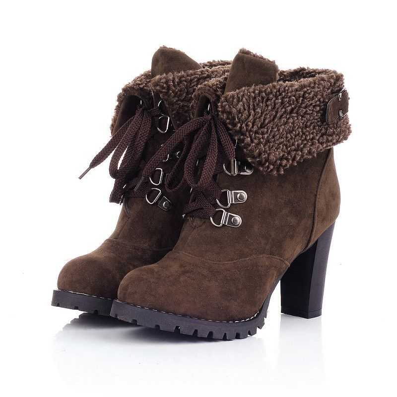 Fashion French Style Simulation Lamb Fur Martin Boots Snow Boots Women Winter Boots Women Women Shoes