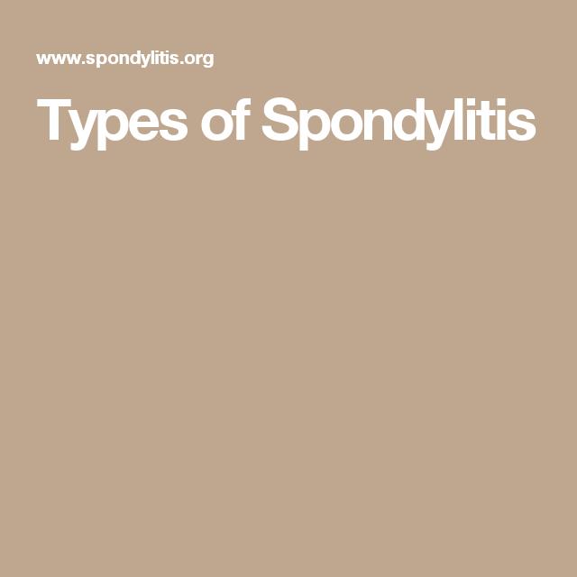 Types of Spondylitis