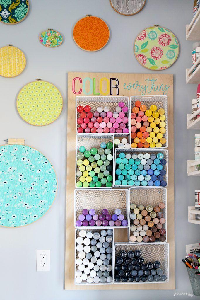 DIY craft paint storage organzier idea from