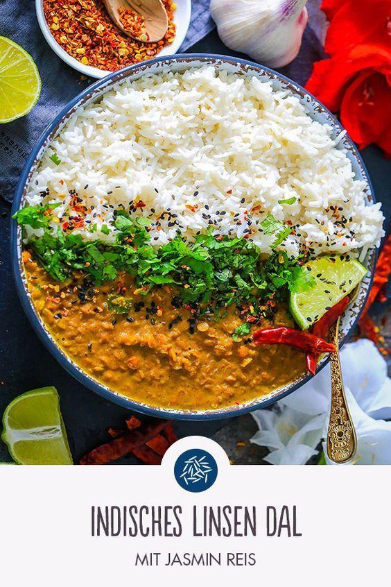 Rezept für Indisches Linsen Dal mit Jasmin Reis