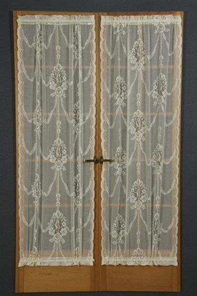 Balmore Cotton Poly Lace Door Curtains, Door Panels, White Balmore Or  American Balmore Is A Rendition Of A Turn Of The Century Scottish Lace  Design.