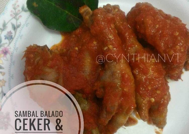 Resep Sambal Balado Ceker Kepala Ayam Oleh Cynthia Novita Resep Resep Ayam Tomat