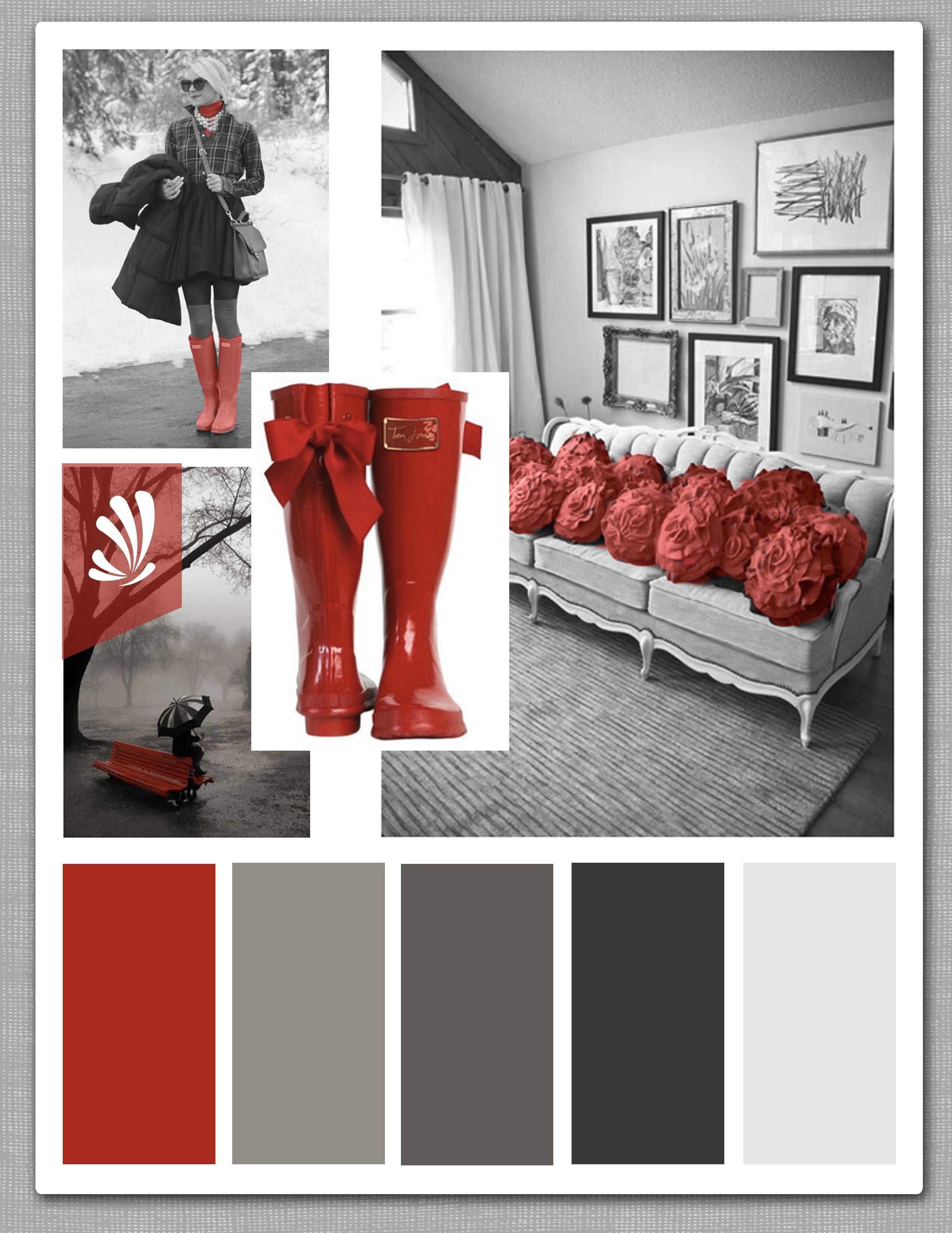 future living room - gray, red, and creamyes please | ideias de
