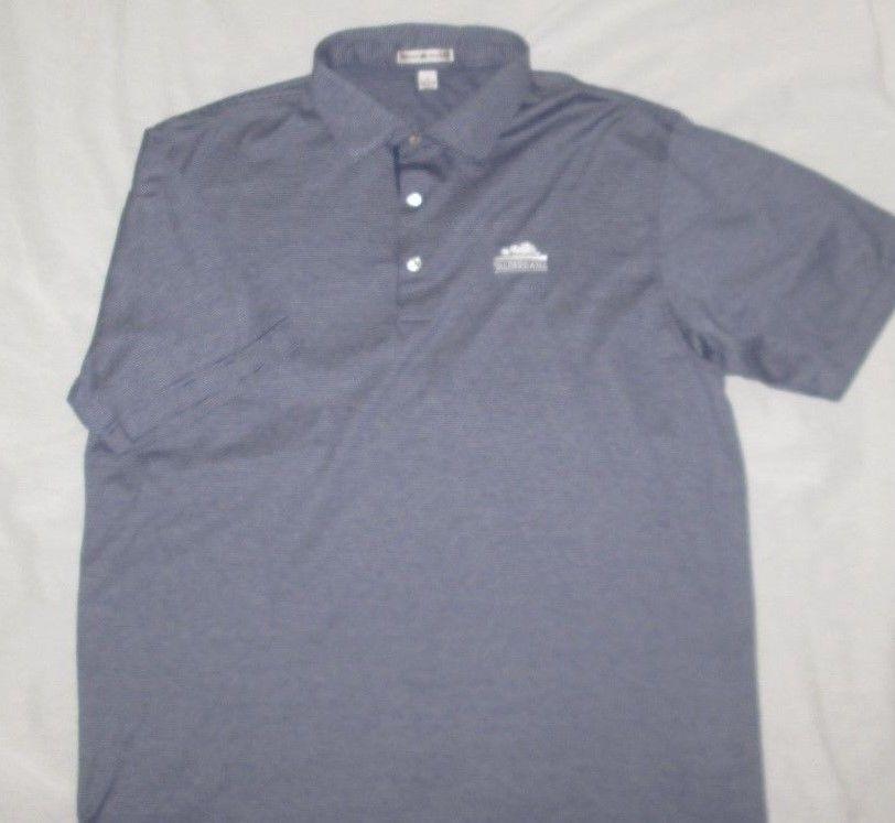 d8aad5cb PETER MILLAR Golf Shirt Size L Large - Blue Stripe - VALDERRAMA GC - SPAIN # PeterMillar #PoloRugby
