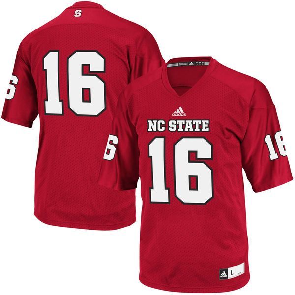 #16 NC State Wolfpack adidas Replica Football Jersey - Red