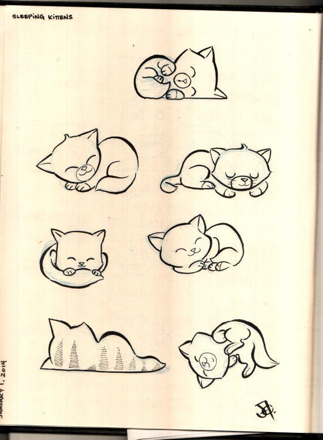 Sleeping Kittens Gatos Laminas