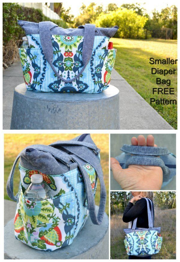 FREE smaller diaper bag sewing pattern #bagpatterns