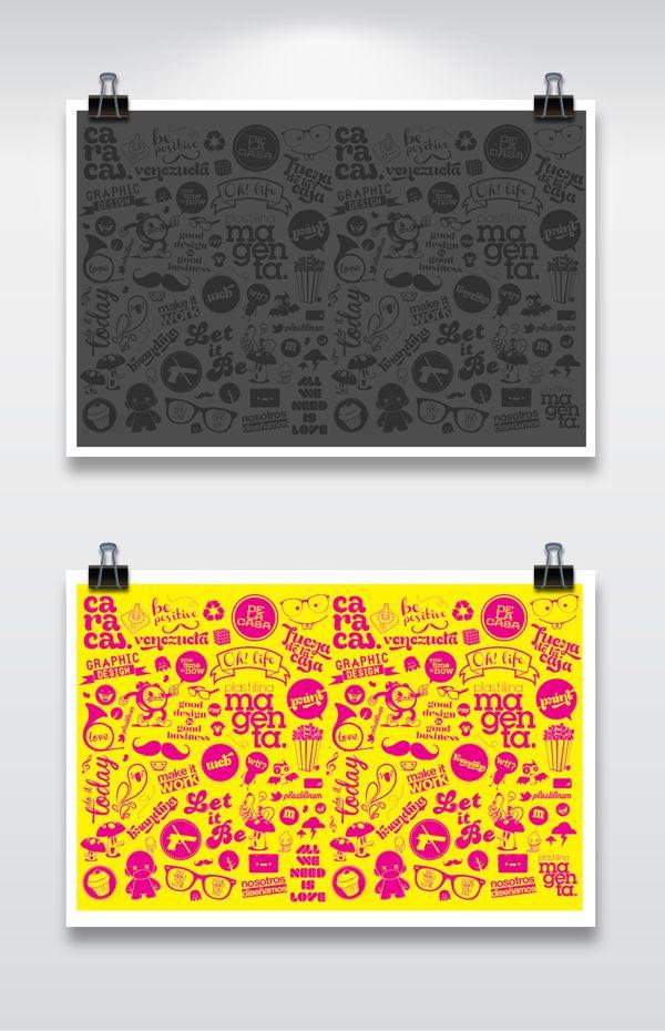 Plastilina Magenta Pattern #Poster