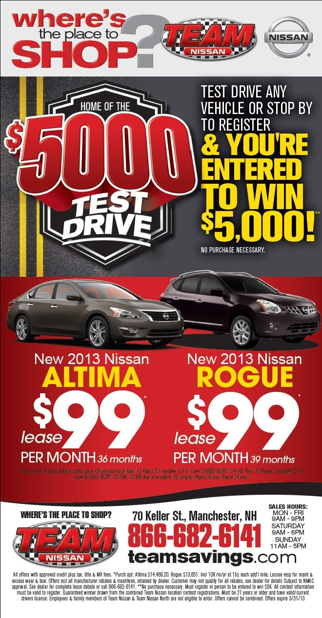 #nissan #altima #rogue #specials #savings #manchester #newhampshire #nh  #newengland