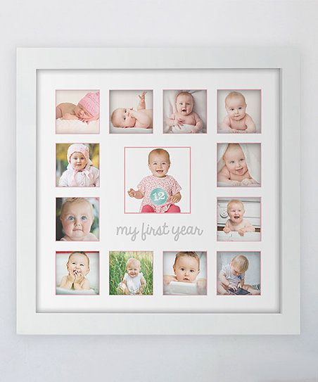 Tiny Ideas Pink First Year Frame Zulily Baby Frame First Year
