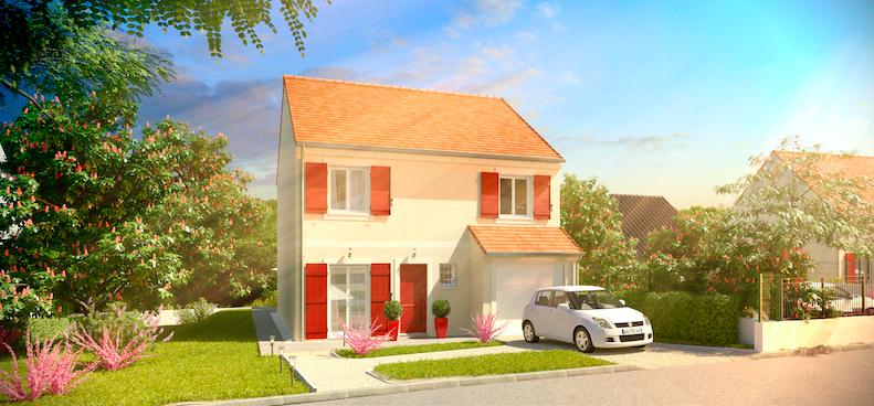 Mod le grand nacre 4 chambres 104m ce mod le contemporain et modulable est la maison - Modele maison familiale ...