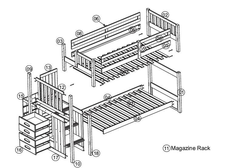 Bunk Bed Plans With Stairs Furniture Bunk Beds With Stairs Bunk